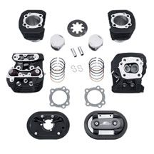 Later, after intake, exhaust and tune. Plus this set comes with 1200 heads.    Screamin' Eagle® Sportster® 883CC to 1200CC Stage 1 Conversion Kit - Black