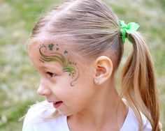 Tutorials: Tattoo Paper in place of face paint.