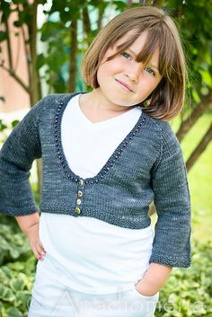 Queen Of The Waves pattern by Elena Nodel; Colour Adventures yarn in Raven.  #knitting #cardigan
