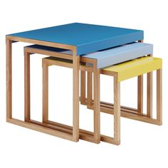 Kilo is a versatile and lightweight 2 seat square dining table with a powder coated steel top and lacquered solid oak legs, serving as both a design motif and structural support. Buy now at Habitat UK. Habitat Furniture, Furniture Design, Diy Furniture, Small Tables, Side Tables, Petites Tables, Nesting Tables, Modern Table, Solid Oak