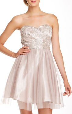 Jump Sweetheart Sequin & Bead Party Dress