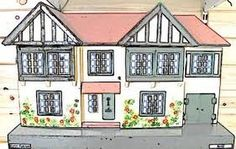 This is a great image of the vintage Triang doll houses. Hope to own one someday for my little Verity Hope dolls! #triang #vintagedollhouse #dollhouse #dollshouse #verityhopesworld