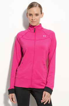 under armour jacket also in pink. Gotta stay with my three color scheme. Under Armour Jackets, Under Armour Women, Sport Fashion, Fitness Fashion, Pink Outfits, Cute Outfits, Workout Attire, Womens Workout Outfits, Athletic Wear