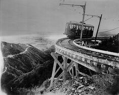 Mt. Lowe Railway over Pasadena, CA 1910