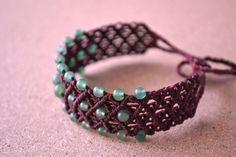 Macrame Friendship Bracelets/ MAUVE/ Stacked by SpiritYSol on Etsy