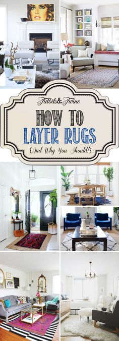 How to layer rugs like a pro PLUS 5 reasons you should do it! You CAN layer rugs whether over carpet or another rug. Here's how!