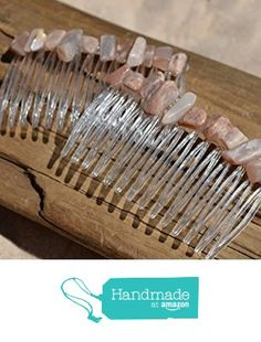 Peach Moonstone Hair Combs (QTY of 2) from DejaVu Designs https://www.amazon.com/dp/B01EENH3DA/ref=hnd_sw_r_pi_dp_hMPyxb7T1SNHD #handmadeatamazon