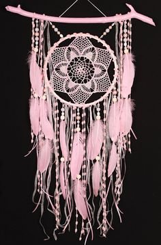 Christmas gift pink Dreamcatchers crochet dreamcatcher American mascots Bohemian wall hanging boho baby wall pink Decor Indian talisman gift This amulet like Dreamcatcher - is not just a decoration of the interior. It is a powerful amulet, which is endowed with many properties: