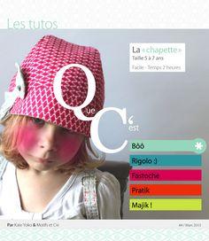 Kate Yoko  créationS   Tuto et patron de la chapette (chapeau pour enfant 92758aa0edd