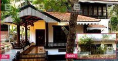Kerala Traditional House, Traditional Home Exteriors, Traditional House Plans, House Outside Design, Small House Design, Modern House Design, Indian Home Design, Kerala House Design, Chettinad House