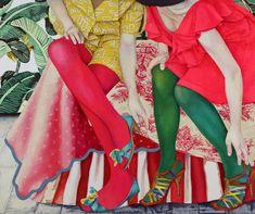 それとこれと  アクリル・綿布・パネル 455 x 380 mm / This and That Acrylic,cotton and panel Figurative Kunst, Inspiration Artistique, Muse Art, Creative Portraits, Colorful Paintings, Japanese Artists, Figure Painting, Image Painting, Asian Art
