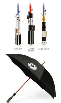 Star Wars Light Saber Umbrellas-- OMG DOM!