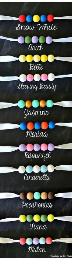 Super easy handmade gifts for kids (or from them): Disney princess beaded necklaces