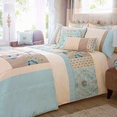 Duck egg blue bedding