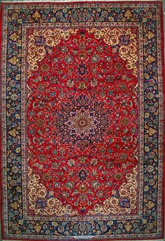 "Esfahan Persian Rug, Buy Handmade Esfahan Persian Rug 11' 6"" x 17' 2"", Authentic Persian Rug"