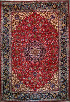 """Esfahan Persian Rug, Buy Handmade Esfahan Persian Rug 11' 6"""" x 17' 2"""", Authentic Persian Rug"""