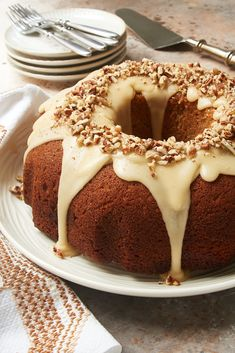 Brown Sugar Spice Cake with Caramel Rum Glaze has such amazing flavor! This beautiful cake is perfect for a special occasion. You'll especially love it in the fall and winter when you're craving desserts made with seasonal spices. - Bake or Break #cake #bundtcake #spicecake #caramel Brown Sugar Pound Cake, Brown Sugar Cakes, Lemon Bundt Cake, Rum Cake, Bundt Cakes, Spice Cake Recipes, Baking Recipes, Pecan Cake, Sugar And Spice