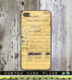Library Check Out Card Personalized Phone Case by CustomCasePlace, $9.95