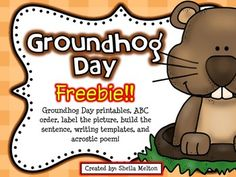 I hope you and your students enjoy these FREE Groundhog Day printables! They are perfect for morning work, stations, centers, independent practice, early finishers, homework, sub plans or 5-minute fillers.  Includes:  *Groundhog Day What's That? Label the Picture  (color and black/white versions) *Groundhog Day ABC Order (color and black/white versions) *My Groundhog Prediction!
