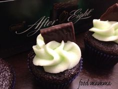 Mint and chocolate. It works well with coffee (peppermint mochas, yum!), cookies and definitely dessert. It was the inspiration for some cupcakes I made a couple months ago for hubby's birthday. Chocolate Food, Chocolate Recipes, Hubby Birthday, Peppermint Mocha, Cupcakes, Cookies, Desserts, Crack Crackers, Tailgate Desserts