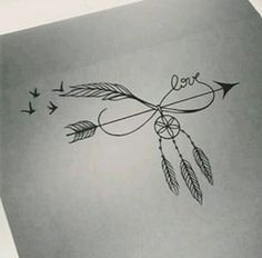 Amber: without the dream catcher, like the birds coming off the feather, maybe the word family instead of love or no words at all.