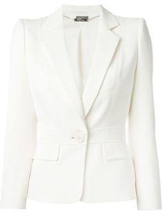 ALEXANDER MCQUEEN One Button Blazer. #alexandermcqueen #cloth #blazer