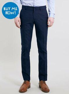 Navy Skinny Dress Pants Topman $50.00
