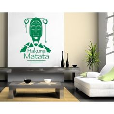 Style and Apply Hakuna Matata Wall Decal (12in x 17in )