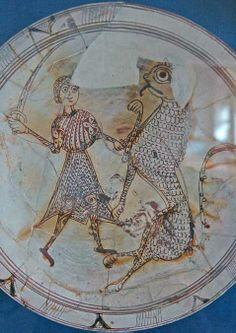 Byzantium, 12th c. Glazed pottery 31.8 dia