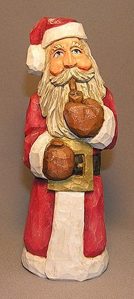 Pipe Smoking Santa carved by Russell Scott