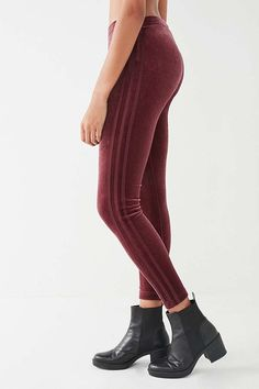 adidas Originals 3 Stripe Velvet Legging | Winter shneeds