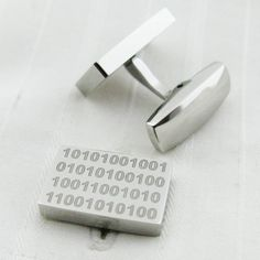 what can I say....? binary custom cufflinks