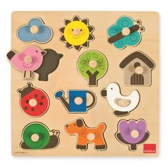 Goula Wooden Countryside Silhouette Puzzle (12 Pieces)