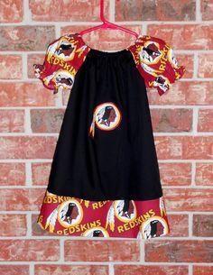 Peasant Style Dress made with Washington Redskins by HalfPintDivas, $24.00