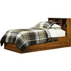 Mainstays Twin Storage Bed Alder