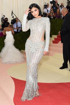 Kylie Jenner rocked a naked dress for the 2016 Met Gala.
