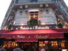 My favorite resturant in Paris for steak and fries! Secret steak sauce to die for!
