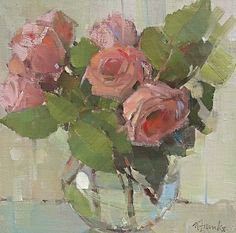 Rose Poetry by Nancy Franke Oil ~ 12 x 12
