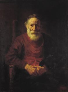 Portrait of an Old Man in Red by Rembrandt van Rijn. Museums: The State Hermitage Museum, St. Medium: Oil on canvas; Rembrandt Portrait, Rembrandt Art, Rembrandt Paintings, Chiaroscuro, Leiden, Caravaggio, Arte Judaica, Art Occidental, Francisco Goya