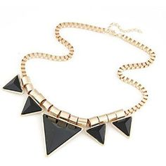 Malloom® 1 PC Femmes Fille Collier Simple Pendentif Bijou Chaîne de Triangle Bohème