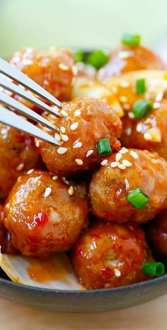Sweet and Sour Meatballs - the best meatballs ever with sweet and sour sauce. These meatballs are so good you'll want them everyday!   rasamalaysia.com