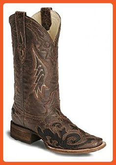 Corral Women's A1026 Goat And Lizard Inlay Brown Fashion Boots 6.5 M - Boots for women (*Amazon Partner-Link)