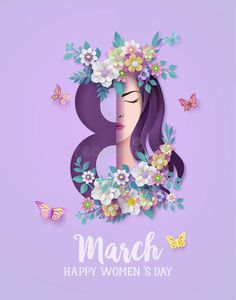 Women's Day 8 March, 8th Of March, Ads Creative, Creative Posters, Happy Woman Day, Happy Women, International Womens Day Poster, Woman Day Image, Women's Day Cards