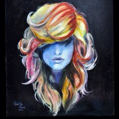 This may be a painting but I love this hair!