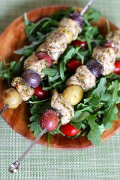 Greek Chicken and Potato Kabob Recipe