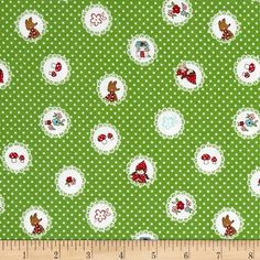 Little Red Riding Hood 100% Cotton Fabric by Riley Blake  FQ