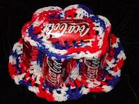 Coke can hats---I don't remember anybody in my family being so hooked(ha ha) on crocheting that we resorted to this.