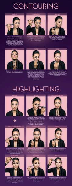 Highlight and contour guide. Courtesy of Anastasia Beverly Hills and Dress Your Face. Check out the website to see more