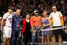 TORONTO (November 16, 2012) – A crowd of 6,558 came out to watch Milos Raonic, Andy Roddick, Serena Williams & Agniezska Radwanska in the Sport Chek Face-Off exhibition match at Air Canada Centre.    Recently retired Roddick topped Raonic 6-4, 4-6, 10-7. Roddick entertained the crown with his impressions of Sharapova, Djokovic and Rafael Nadal.......  World #3 & 15-time major champion Serena Williams lost to #4 Agnieszka Radwanska 6-4, 6-4 in a rematch of the most recent Wimbledon final.