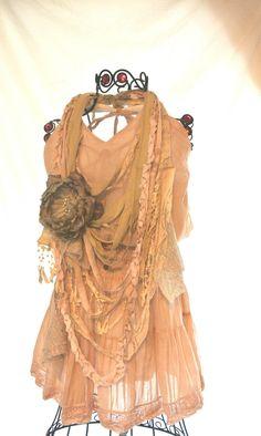 Boho Chic halter Dress bohemian girl beach by TrueRebelClothing, $64.00